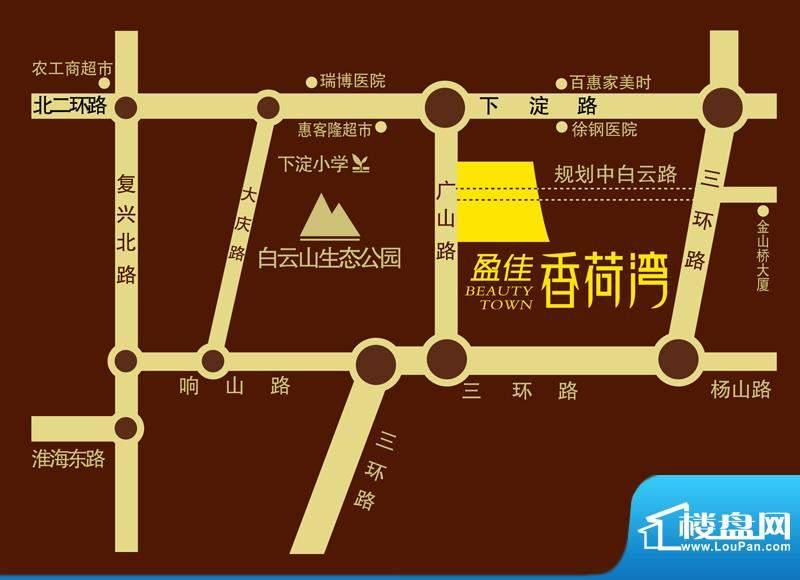 盈佳·香荷湾交通图