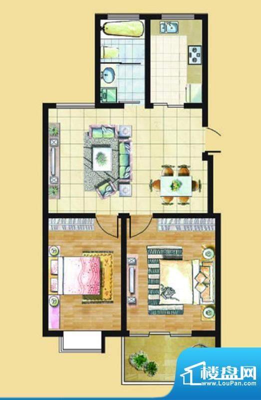 九里景秀G3户型 2室面积:0.00平米