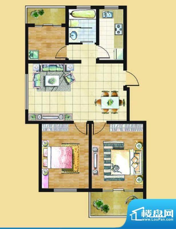 九里景秀G1户型 3室面积:0.00平米