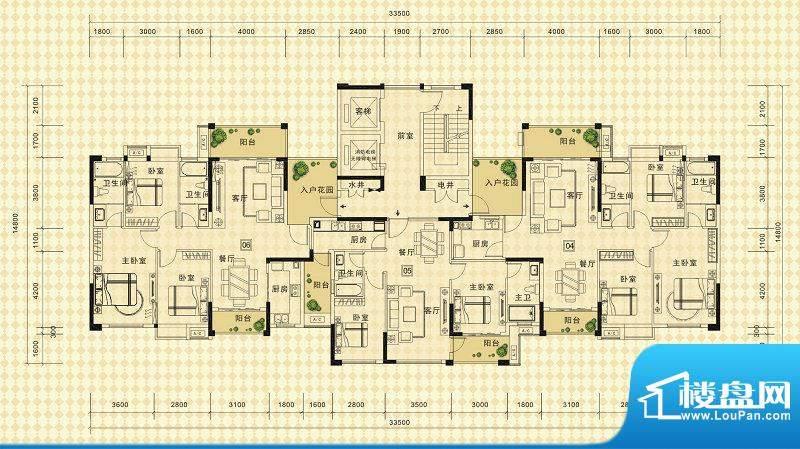 中信德方斯1号楼B户面积:0.00m平米