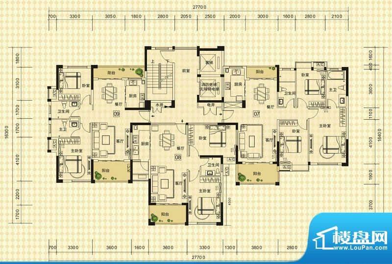 中信德方斯2号楼A户面积:0.00m平米