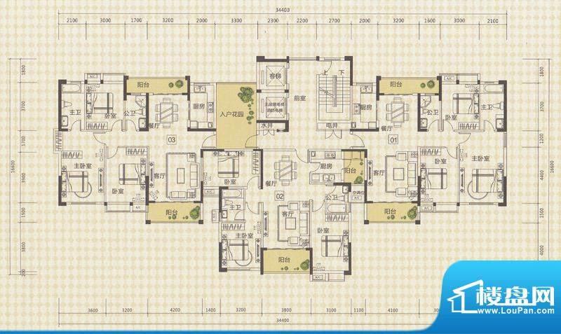 中信德方斯2号楼01/面积:0.00m平米