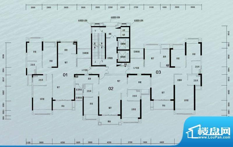 锦绣国际花城29栋6-面积:135.60m平米