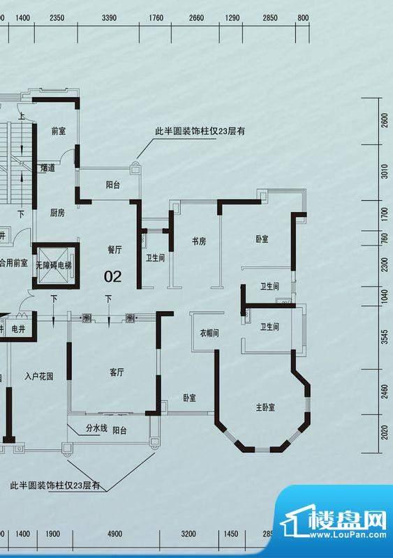 锦绣国际花城19栋02面积:213.25m平米