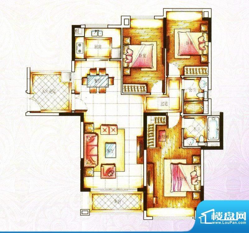 锦绣国际花城22-31栋面积:134.00m平米