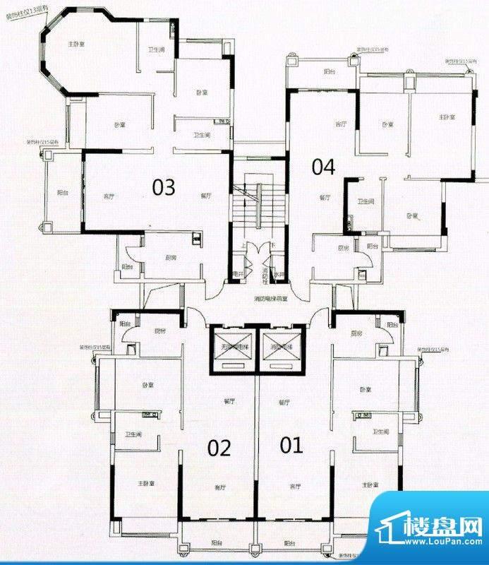 锦绣国际花城32栋5-面积:82.08m平米