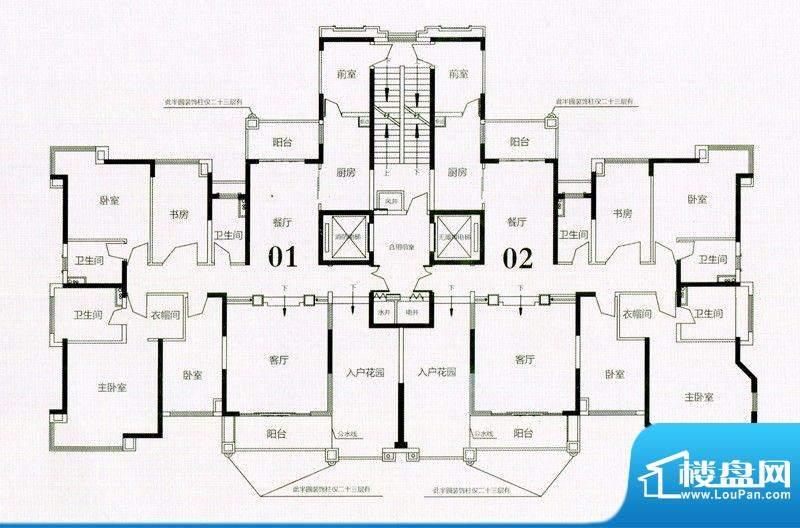 锦绣国际花城19栋8-面积:205.69m平米