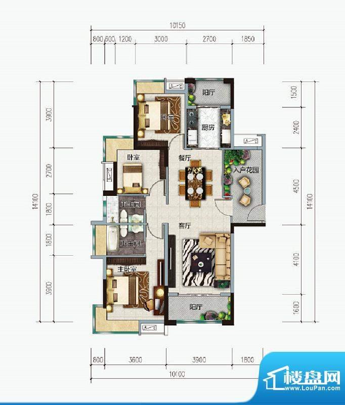 远洋城天祺8、9栋01面积:123.00m平米