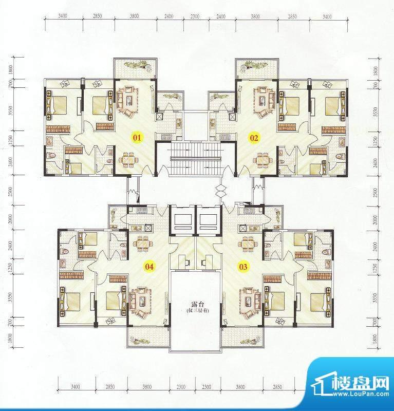 誉港湾花园2栋3-23层面积:0.00m平米
