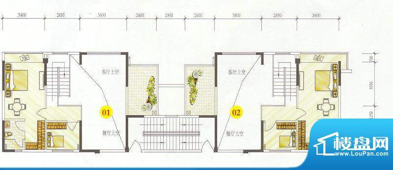 誉港湾花园复式二层面积:0.00m平米