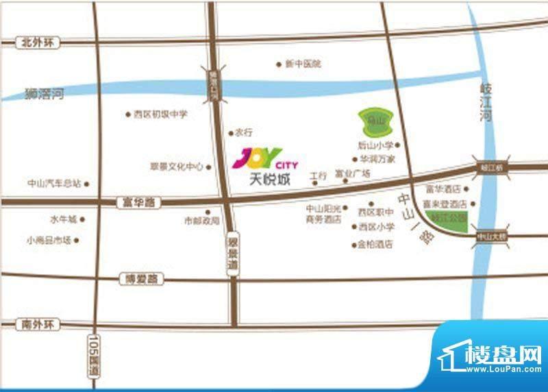 天悦城交通图