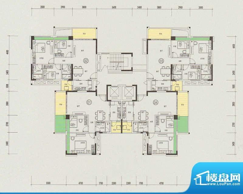 天悦城10号楼奇数层面积:0.00m平米