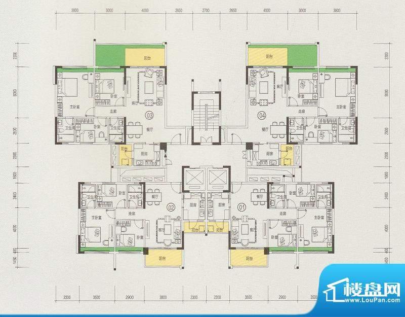 天悦城1、2层偶数层面积:0.00m平米