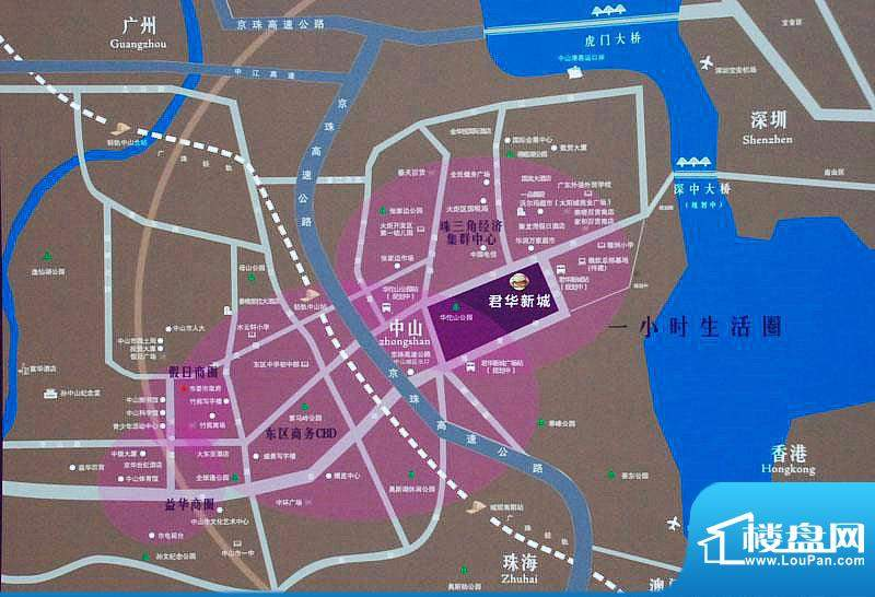 君华新城交通图