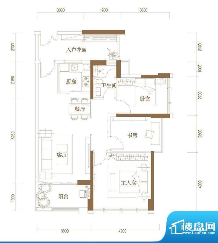 君华新城63、64栋03面积:93.00m平米