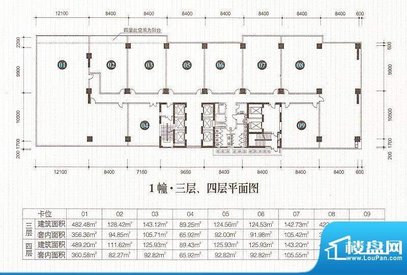 星汇湾1栋三、四层平面积:0.00m平米