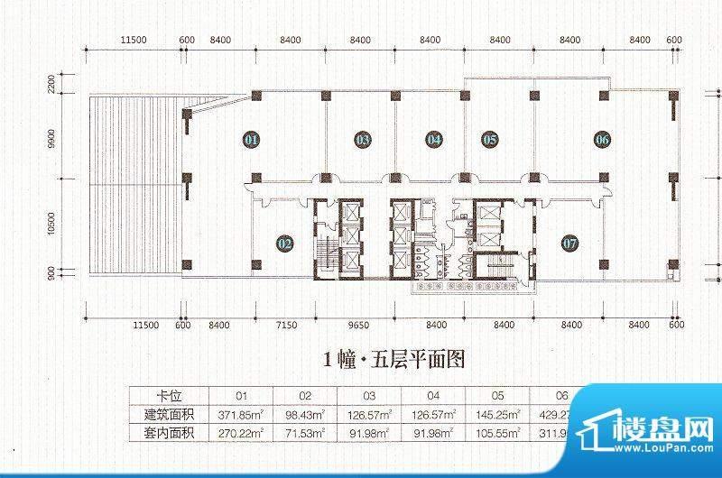 星汇湾1栋五层平面图面积:0.00m平米