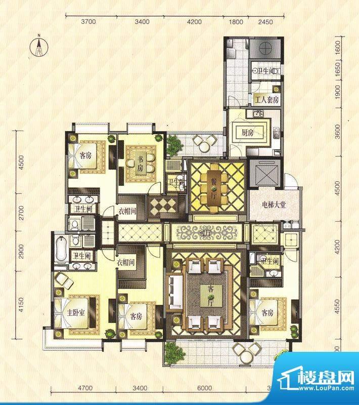 中海龙湾国际空中院面积:303.00m平米