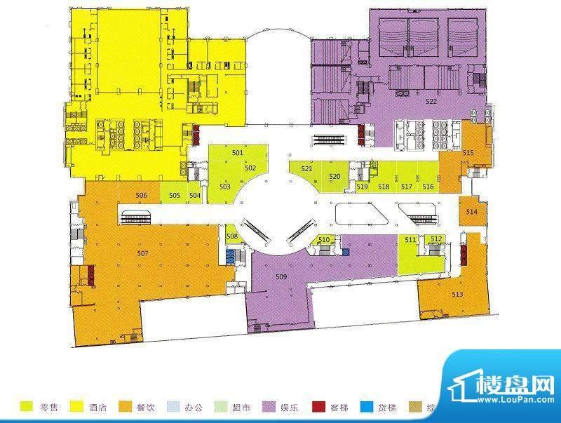 利和广场5F平面户型面积:0.00m平米