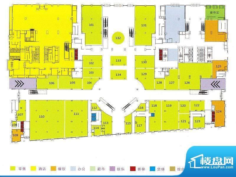 利和广场1F平面户型面积:0.00m平米