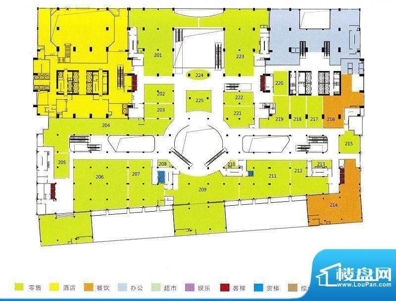 利和广场2F平面户型面积:0.00m平米