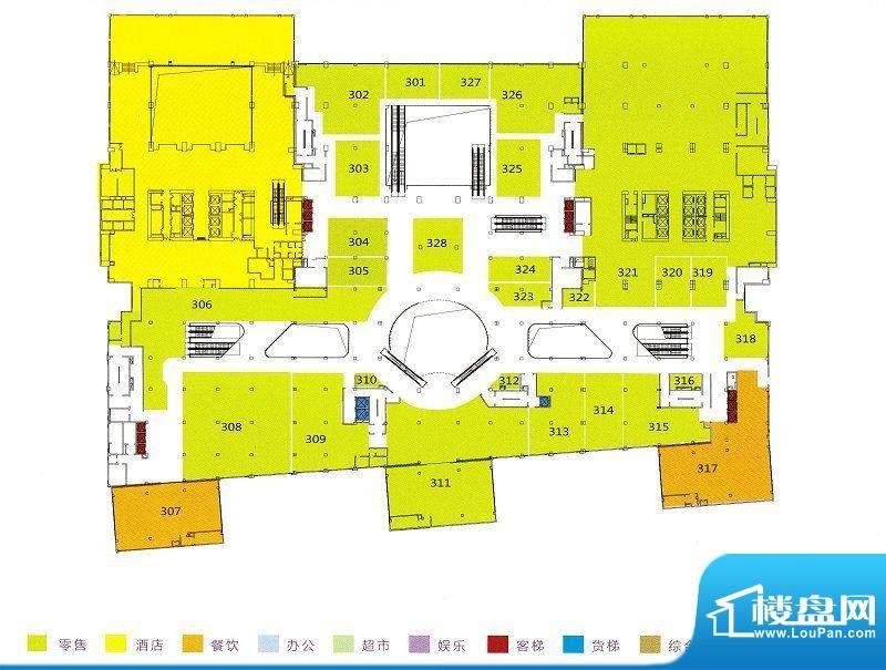 利和广场3F平面户型面积:0.00m平米