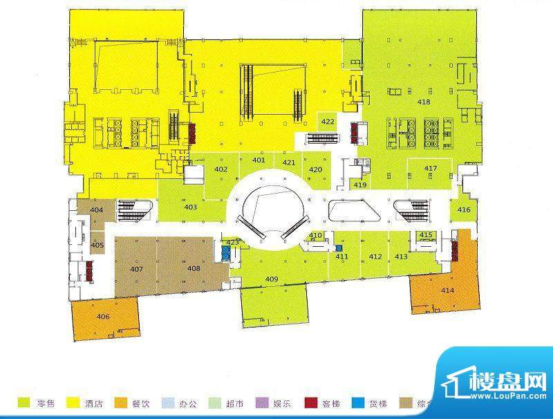 利和广场4F平面户型面积:0.00m平米