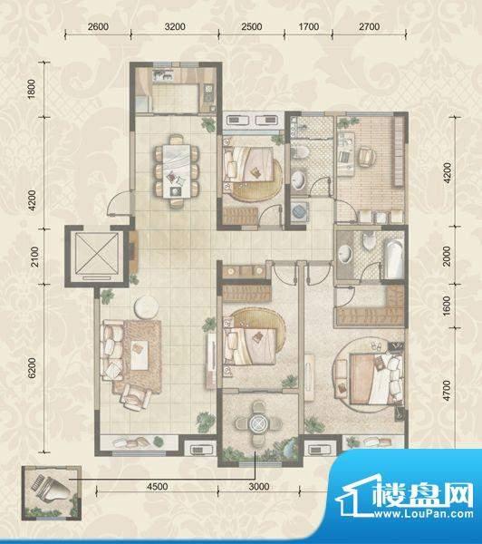 中海国际社区7F洋房面积:145.00m平米