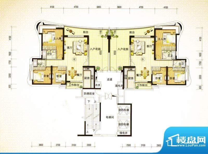 金爵官邸2栋02/03单面积:152.78m平米