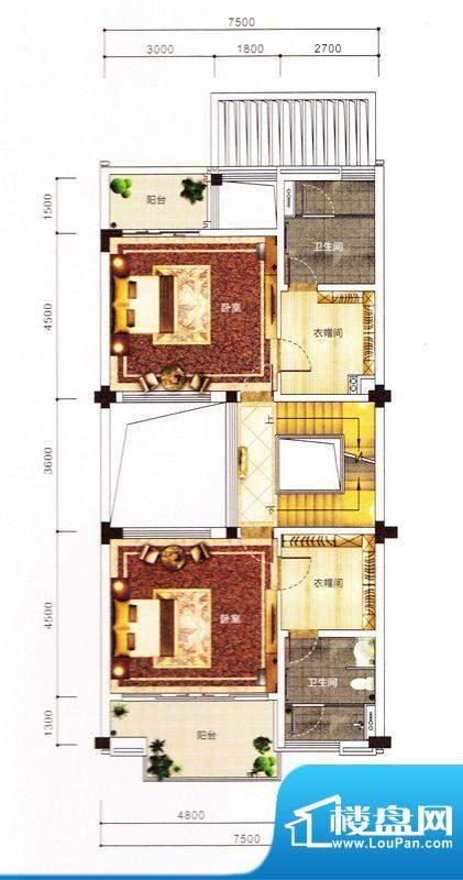 紫园别墅1栋二层 面积:0.00m平米