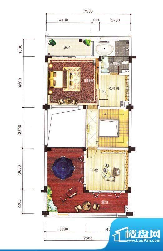 紫园别墅1栋三层 面积:0.00m平米