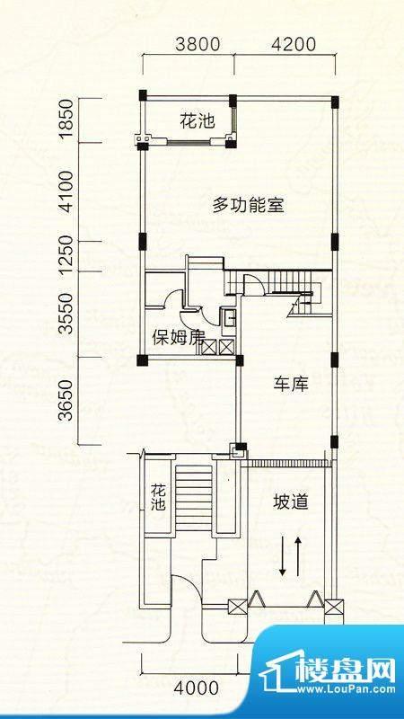 中澳滨河湾D型地下室面积:196.13m平米