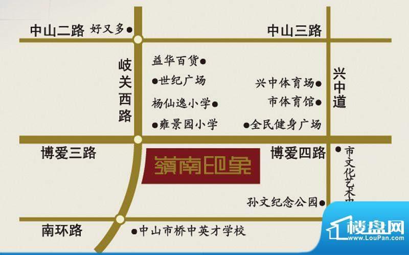 岭南印象交通图