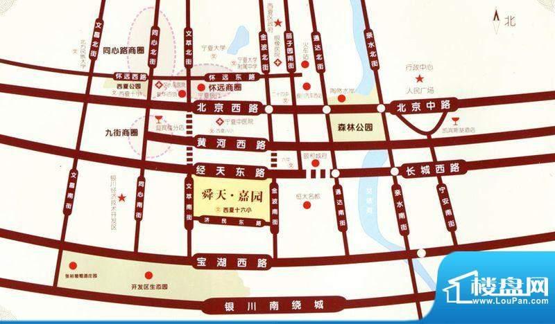 舜天嘉园交通图