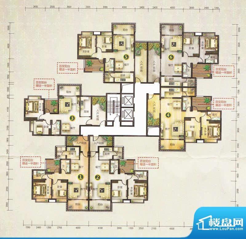 旭景花园T12【2-17层面积:108.00m平米