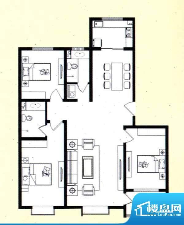 舜天嘉园C户型 3室2面积:112.00m平米