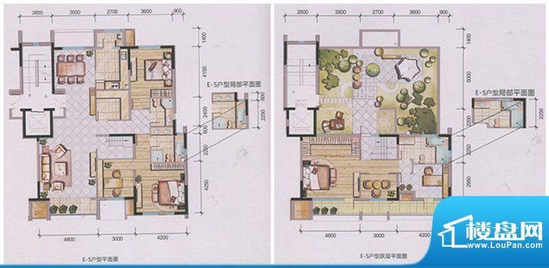 兴庆府大院E-S 5室3面积:241.17m平米