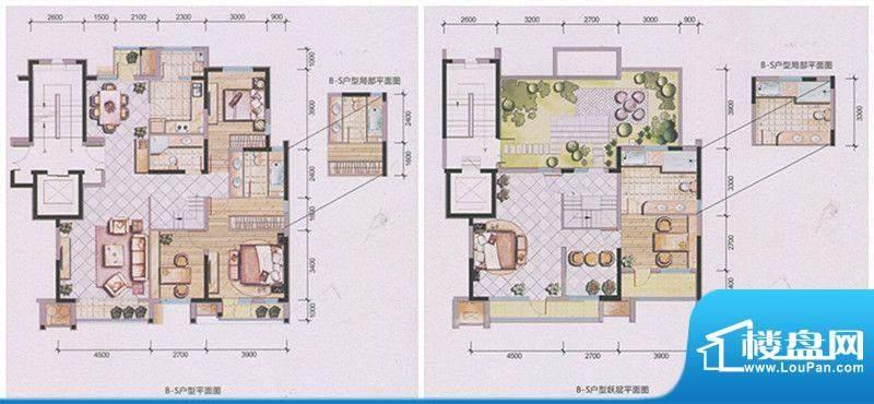 兴庆府大院B-S 5室3面积:208.31m平米