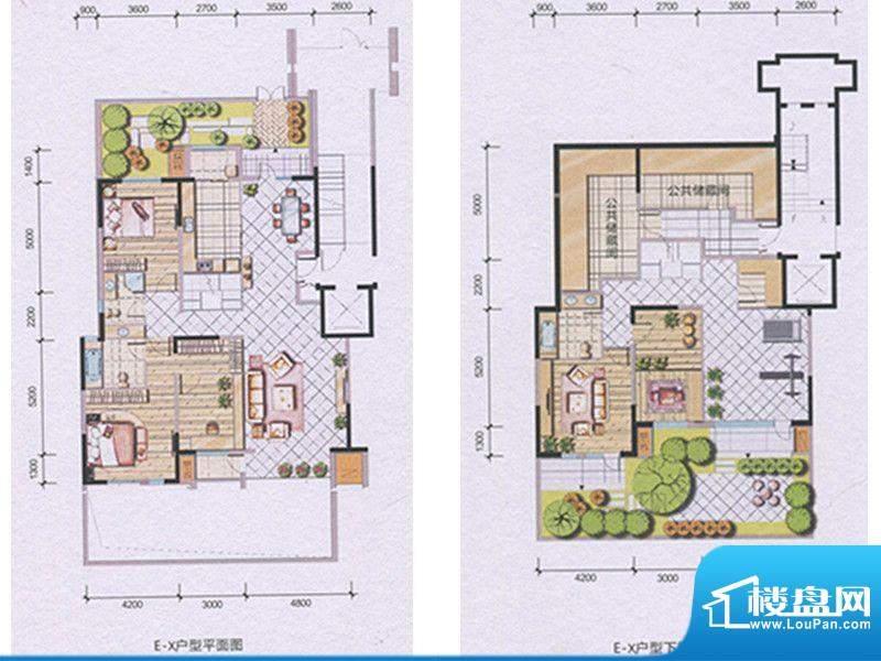 兴庆府大院E-X 5室3面积:273.44m平米