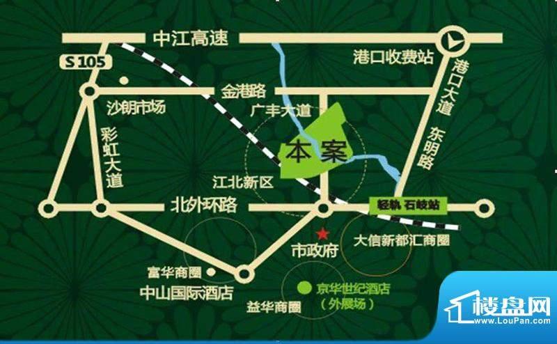 中山奥园交通图