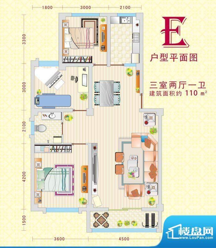 盛世灵州2 3室2厅1卫面积:110.00m平米