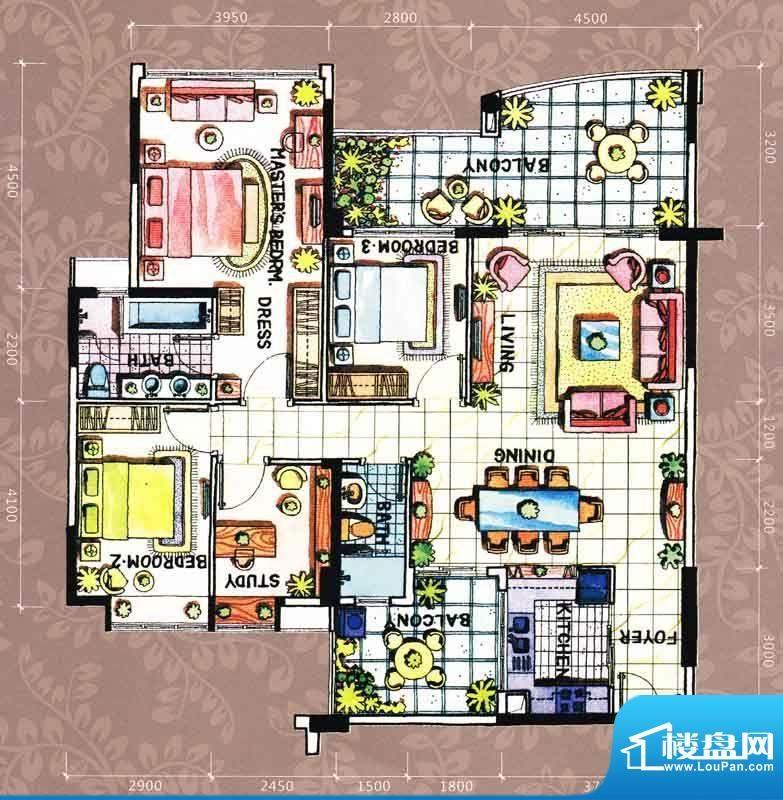 帝璟东方盈福居3幢0面积:146.00m平米
