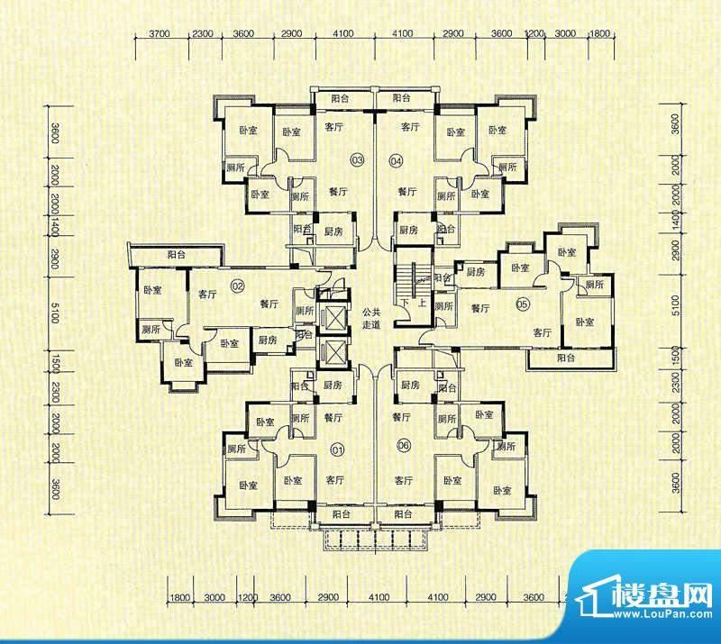 嘉怡华庭7栋户型图 面积:0.00m平米