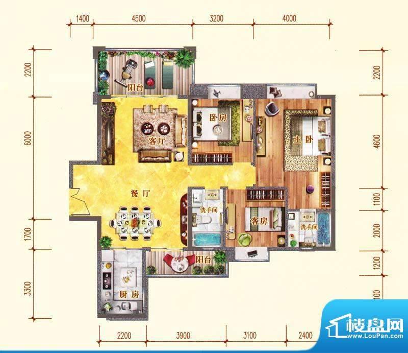 佛奥阳光花园72栋02面积:130.41m平米