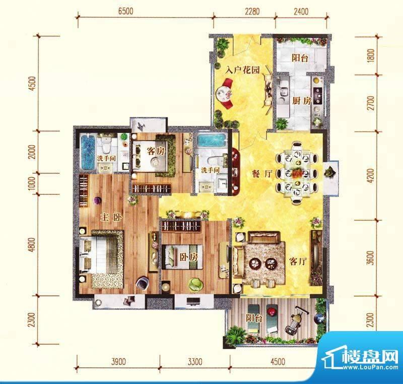 佛奥阳光花园71栋01面积:138.81m平米