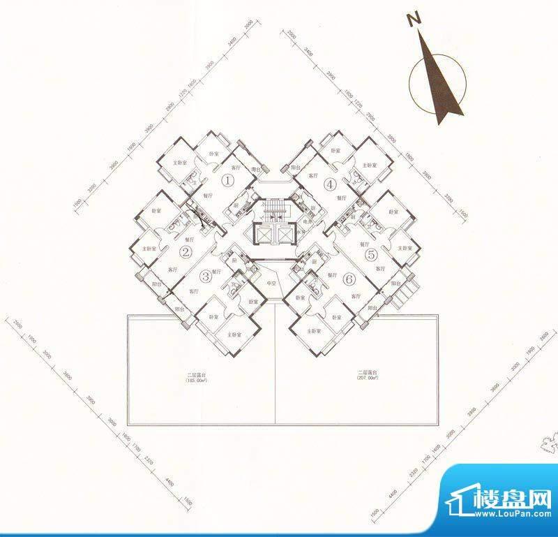 南桂园江临世家C-A栋面积:0.00m平米
