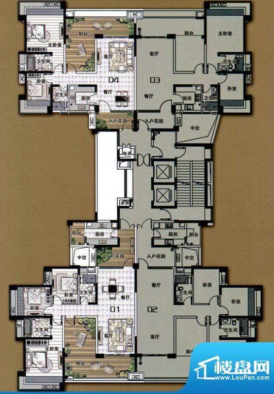 雅居乐御龙山M型 3室面积:0.00m平米