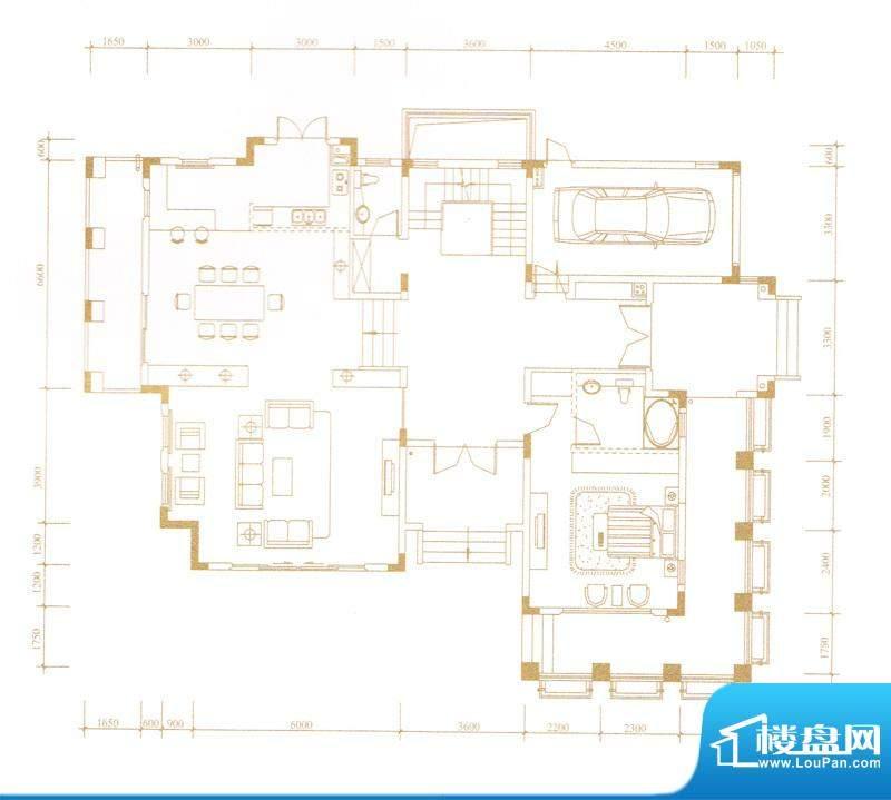 鎏金山A-2户型二层 面积:0.00m平米