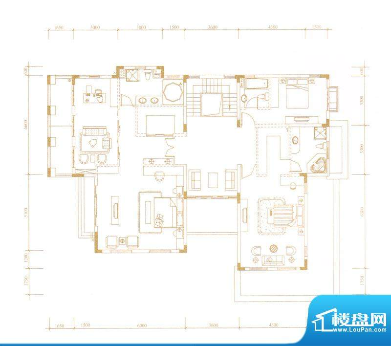 鎏金山A-2户型三层 面积:0.00m平米