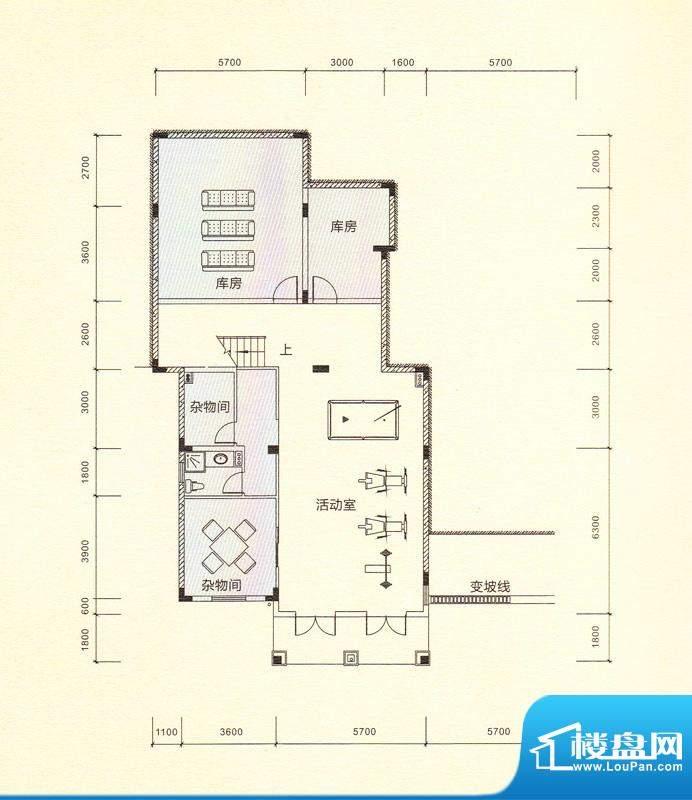 鎏金山V1a多功能室 面积:389.16m平米